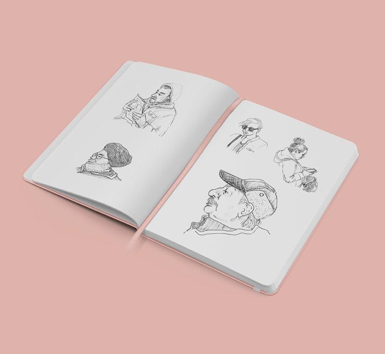 Skytrain Sketches Sarah Eno Thumbnail